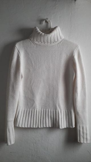 Polera O Sweater Blanco Tejido Marca Silenzio Talle M