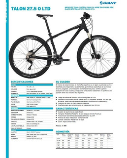 Bicicleta Giant Talon 0 Ltd 27,5