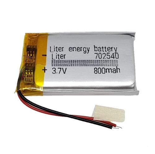 Imagen 1 de 1 de Bateria Litio 702540 3.7v 800mah 7 X 25 X 40mm