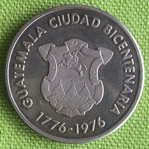 Guatemala : Medalla De Plata-ciudad Bicentenaria 1776 - 1976