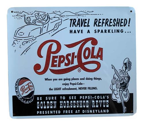 Imagen 1 de 2 de Placa Metálica Pepsi Cola