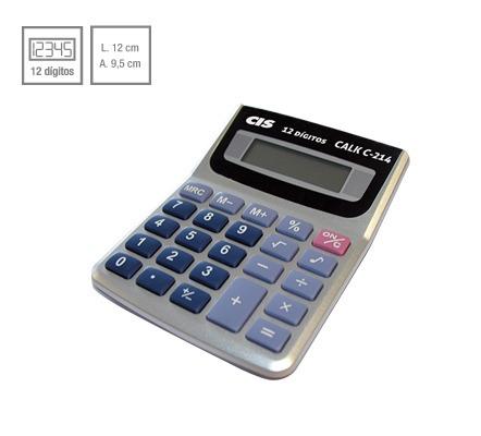 Calculadora De Mesa Calk C-214 12 Dígitos Cis