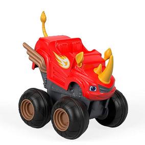 Carrinho Blaze - Turbo Slam Go - Acelerador Blaze Rinoceront