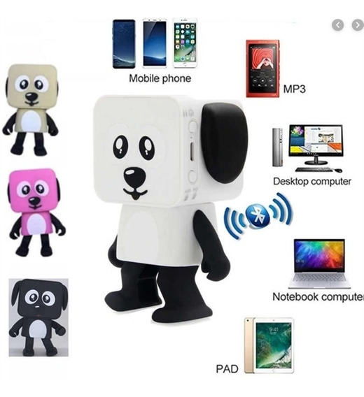 Robo Caixa De Som Bluetooth Brinquedo Musical Dança Dancing Dog Usb Radio Portatil Dancante