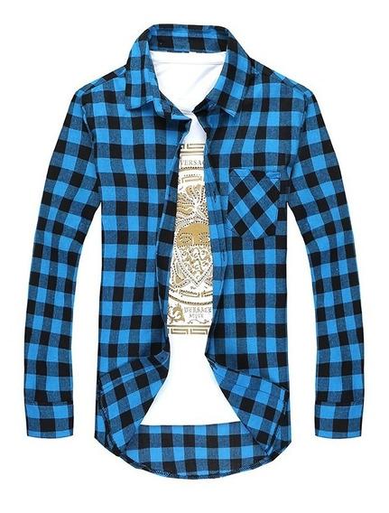 Pack X3 Camisas Escocesas Entalladas Hombre - Envios Gratis+