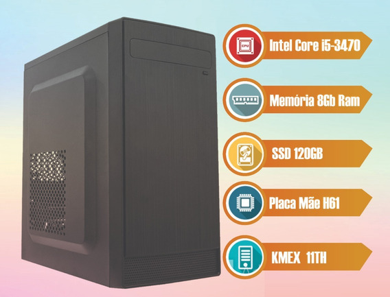 Computador Desktop I5 3470 8gb Ssd 120 Gb - Home Office