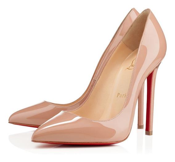 Sapato Verniz Sola Vermelha 35 36 37 38 39 12 Cm Couro