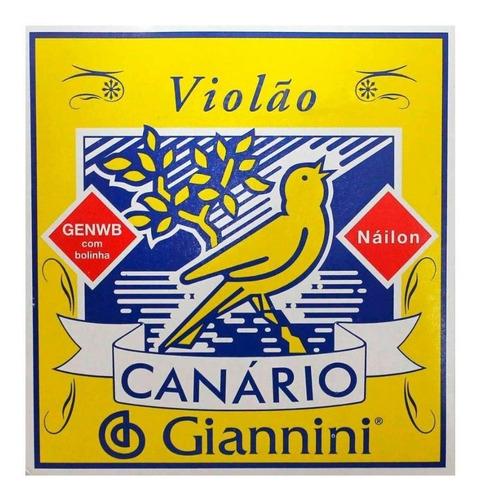 Imagem 1 de 2 de Encordoamento Giannini Canario Violão Nylon Com Bolinha