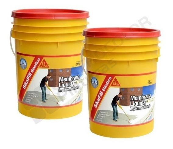 Sikafill Elástico Membrana Liquida 20 + 20 Kgs. + Regalos