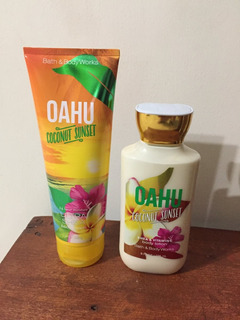 Bath And Body Works - 2 Cremas - Oahu Coconut Sunset