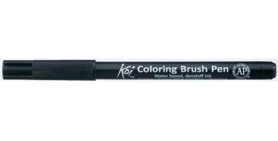 Caneta Pincel Koi Coloring Brush Pen Preta Xbr49-pb Miwa