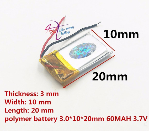 Baterias 60mah 3,7v Fone De Ouvido Reflect Mini Bt