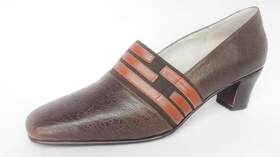 Zapato Vestir Dama Marrón Número 41 Taco Suela
