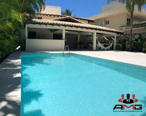 Casa Com 4 Dormitórios À Venda, 450 M² Por R$ 2.850.000,00 - Condomínio Hanga Roa - Bertioga/sp - Ca0549