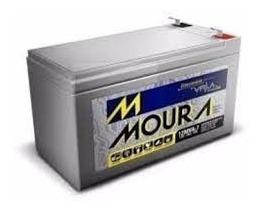 Kit Com 8 Baterias Moura Estacionária 12v 7ah Vrla Nobreak