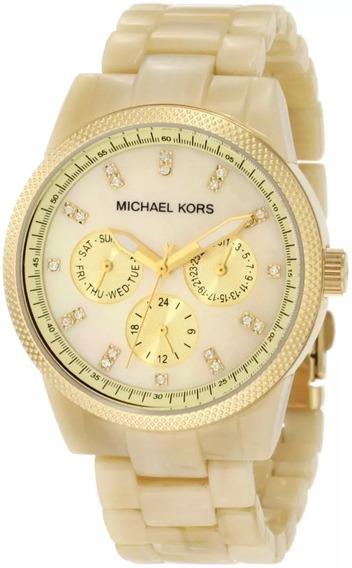 Relógio Om1437 Michael Kors Mk5039 Madréperola C/ Caixa Mk