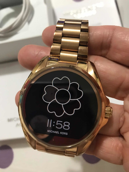 Relógio Michael Kors Touch Rosê Semi Novo Original