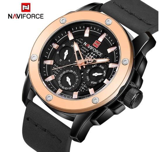 Relógio Masculino Esportivo Naviforce 9116 Com Nota Fiscal