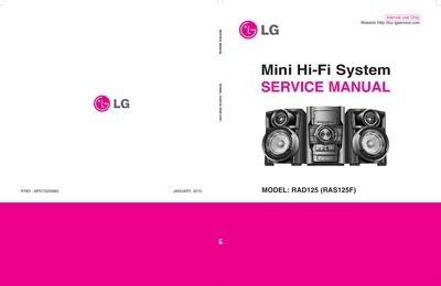 Esquema Som Lg Rad 125 Mini Hi-fi System