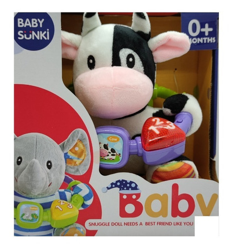 Imagen 1 de 1 de Mi Vaquita Interactiva Luces Y Sonidos Para Bebés