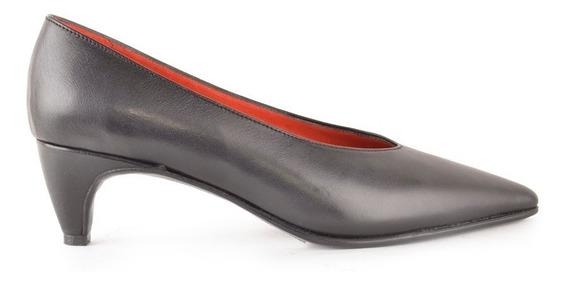 Zapatos De Mujer Cuero Taco Bajo Turin - Ferraro -