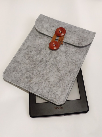 Capa Vintage Luxo Cinza Envelope Serve Para Kindle - Novo Kindle - 10g - Paperwhite 1 2 3 E 4
