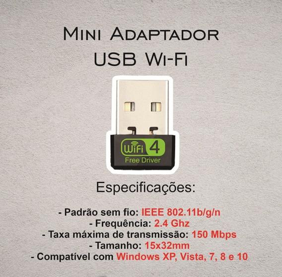 Receptor Wi-fi Mini Usb 2.4 Ghz
