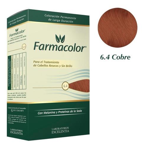 Farmacolor Kit Cobre N° 6.4 X 1 Estuche. Directo De Fábrica.
