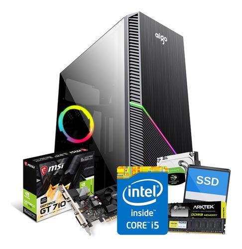 Imagen 1 de 3 de Pc Gamer Nueva Core I5 8gb 120ssd+1tb Tarjeta Video 2gb Wifi