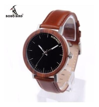 Relógio Unissex Bambu Bobo Bird Luxo M15 Aço Inox + Frete