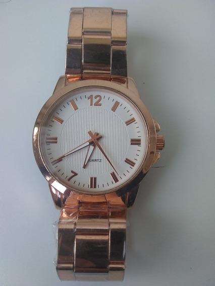 Relógio De Pulso Feminino Rosê + Brinde