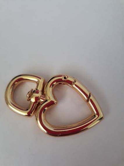 Mosquetão Fecho Coração Dourado Santa Luxuria Acessorios