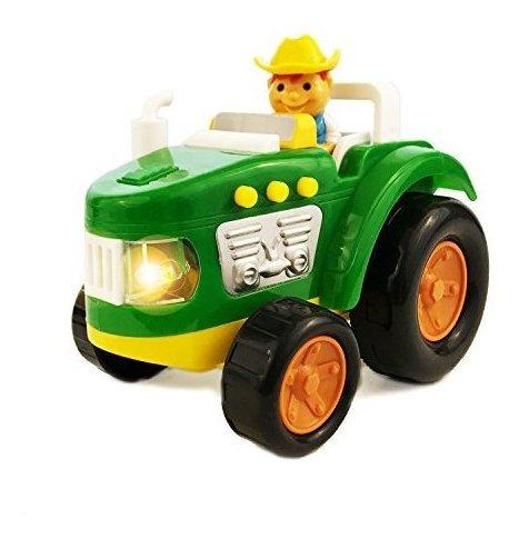 Boley Green Farm Tractor Toy Educational Light Y Sound Toy P