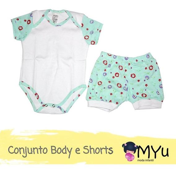 Conjunto Body E Shorts + Toalha Com Capuz