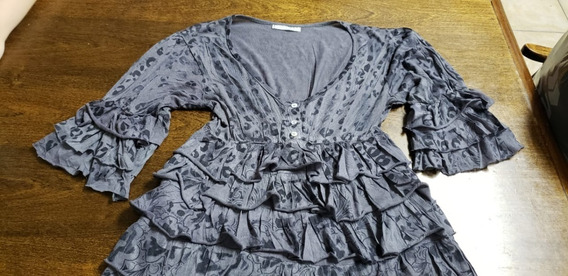 Camisola Sweet Talle L Con Volados Hermosa Impecable Unica