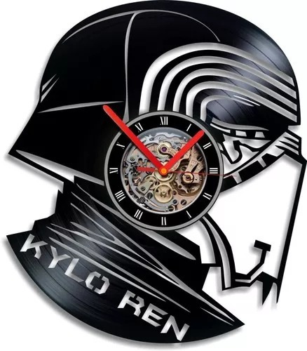 Imagem 1 de 1 de Star Wars Kylo Ren Relógio De Parede