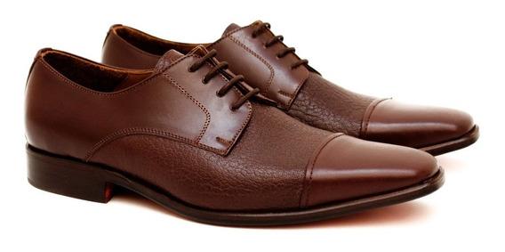 Zapato De Vestir Premium Cuero Vacuno Combinado Liberty 841