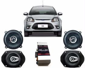 Falantes Ford Ka 1par De 5x7+1 Par De 5 + Modulo 100 Watts