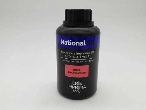 Imagem 1 de 1 de Resina  - Rosa - Translúcida - National 3d - 500 Ml