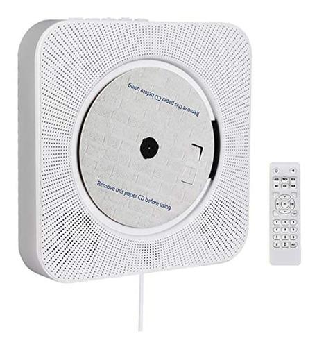 Imagen 1 de 6 de Discmans De Pared Con Bluetooth Y Radio Fm Portátil, Blanco