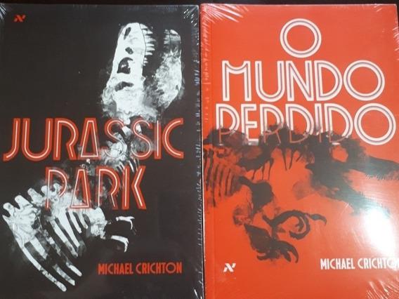 Livros Jurassic Park + O Mundo Perdido (novos)