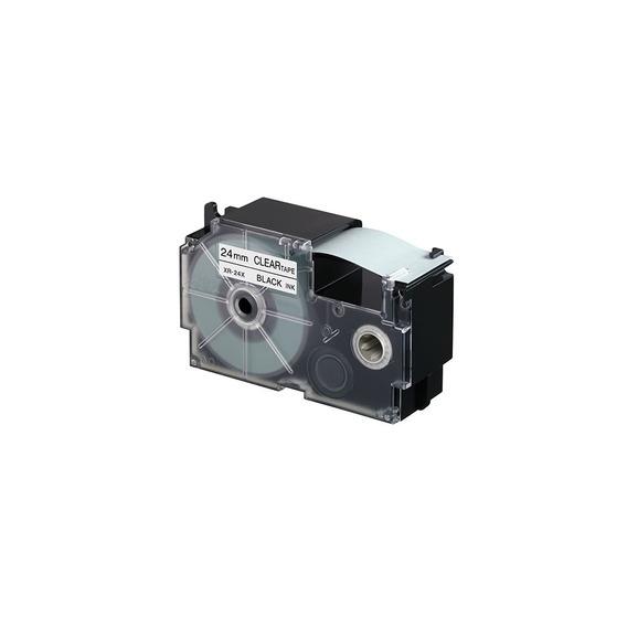 Cinta Para Rotulador Casio Xr-24we1 24mmx8m Negro/blanco