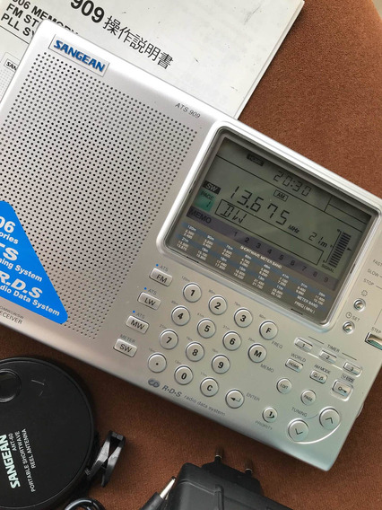 Radio Receptor Ondas Curtas Sangean Ats-909
