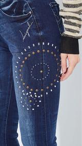 & Jeans Desigual Con Aplicaciones 40 Nuevo Envío Gratis