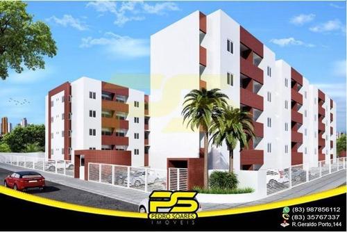 Apartamento Com 2 Dormitórios Para Alugar, 56 M² Por R$ 1.200,00/mês - Água Fria - João Pessoa/pb - Ap3699