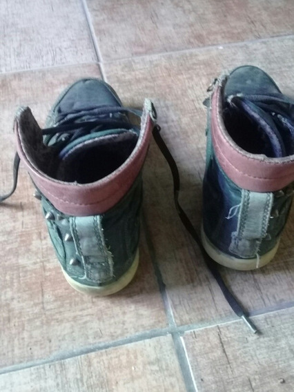Zapatillas Heyas + Converse Cuero