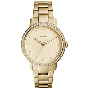 Relógio Fossil Feminino Ref: Es4289/4dn Slim Dourado
