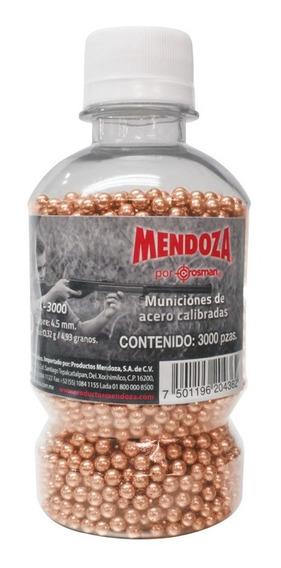 Municion De Acero Balin Bbs Con 3000 Pcs 4.5 Mm Mendoza