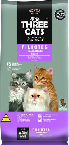 Comida Gato Three Cats Gatitos 3kg + Salsa Gatitos