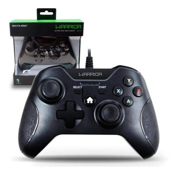 Controle X-box One Pc Usb Warrior Preto Garantia E Nf Js078